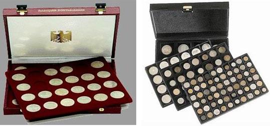 Кейсы с вкладышами для монет