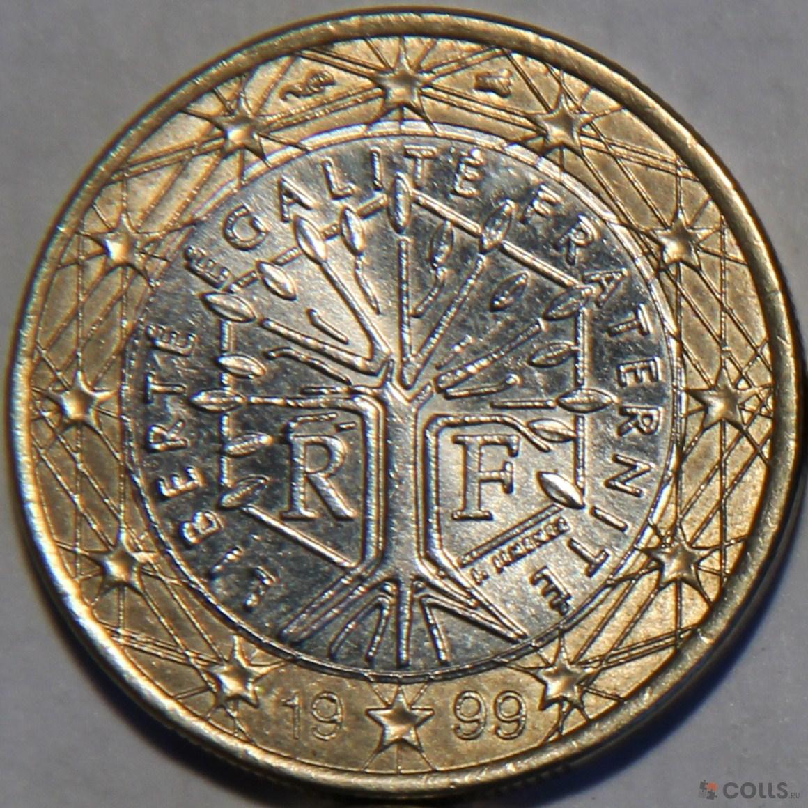 Монета 1 евро 1999 sede vacante