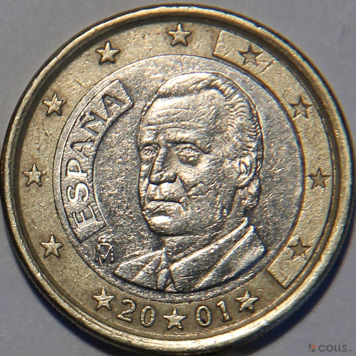 Монеты 1 евро испания кхи подстаканник