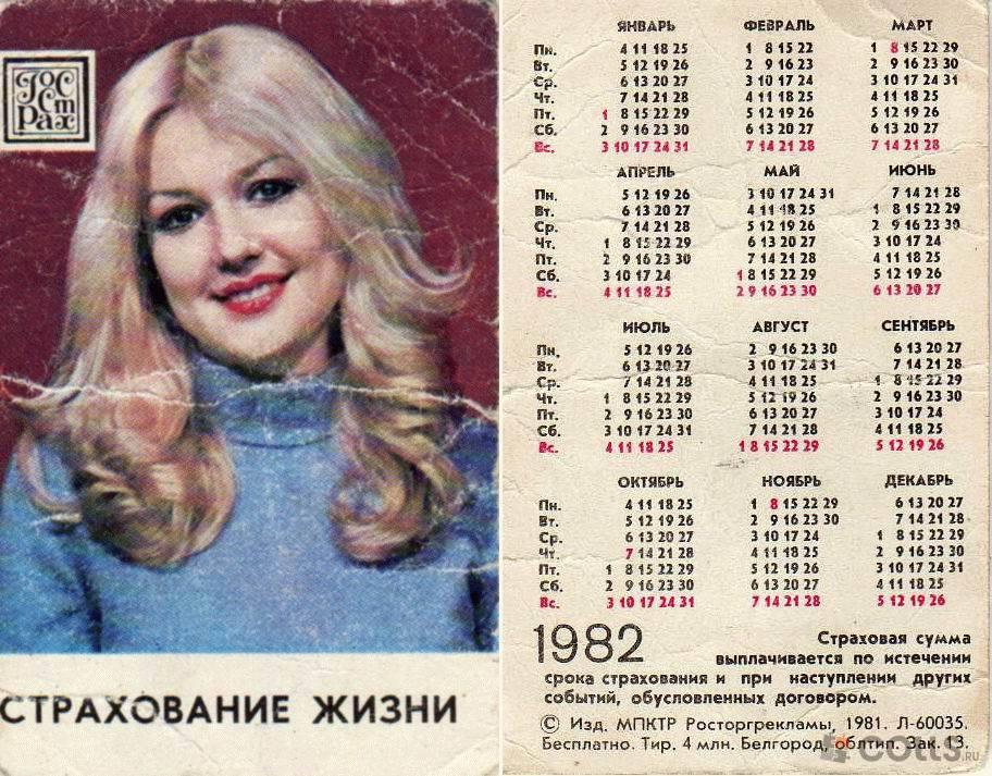 Лунный календарь ноябрь 1982